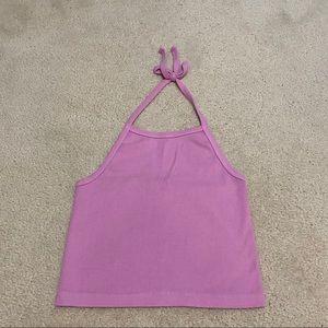 Brandy Melville pink halter top